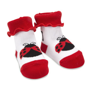 Red and Black Ladybug by Izzy & Owie - 0-12 Socks