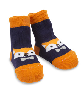 Orange and Navy Fox by Izzy & Owie - 0-12 Socks