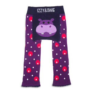Purple Hippo by Izzy & Owie - 6-12 Months Baby Leggings