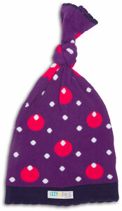 Purple Hippo by Izzy & Owie - One Size Fits All Baby Hat