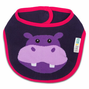Purple Hippo by Izzy & Owie -  Baby Bib