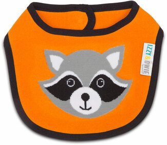 Orange Raccoon by Izzy & Owie -  Baby Bib
