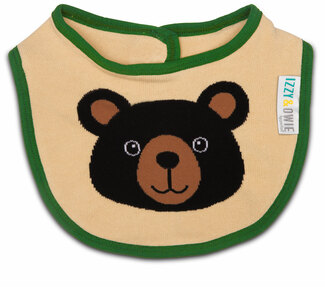 Black Bear by Izzy & Owie -  Baby Bib