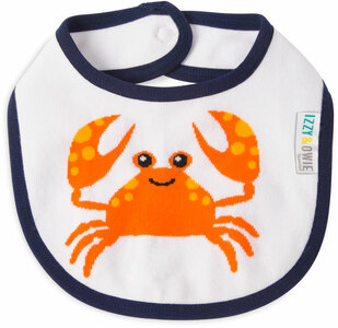 Nautical Crab by Izzy & Owie -  Baby Bib
