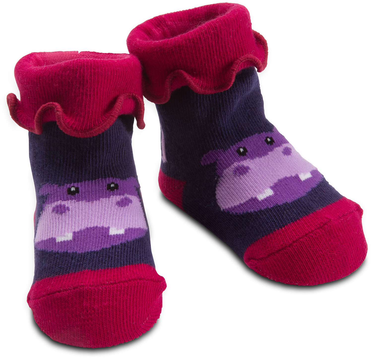 Purple Hippo by Izzy & Owie - Purple Hippo - 0-12 Sock