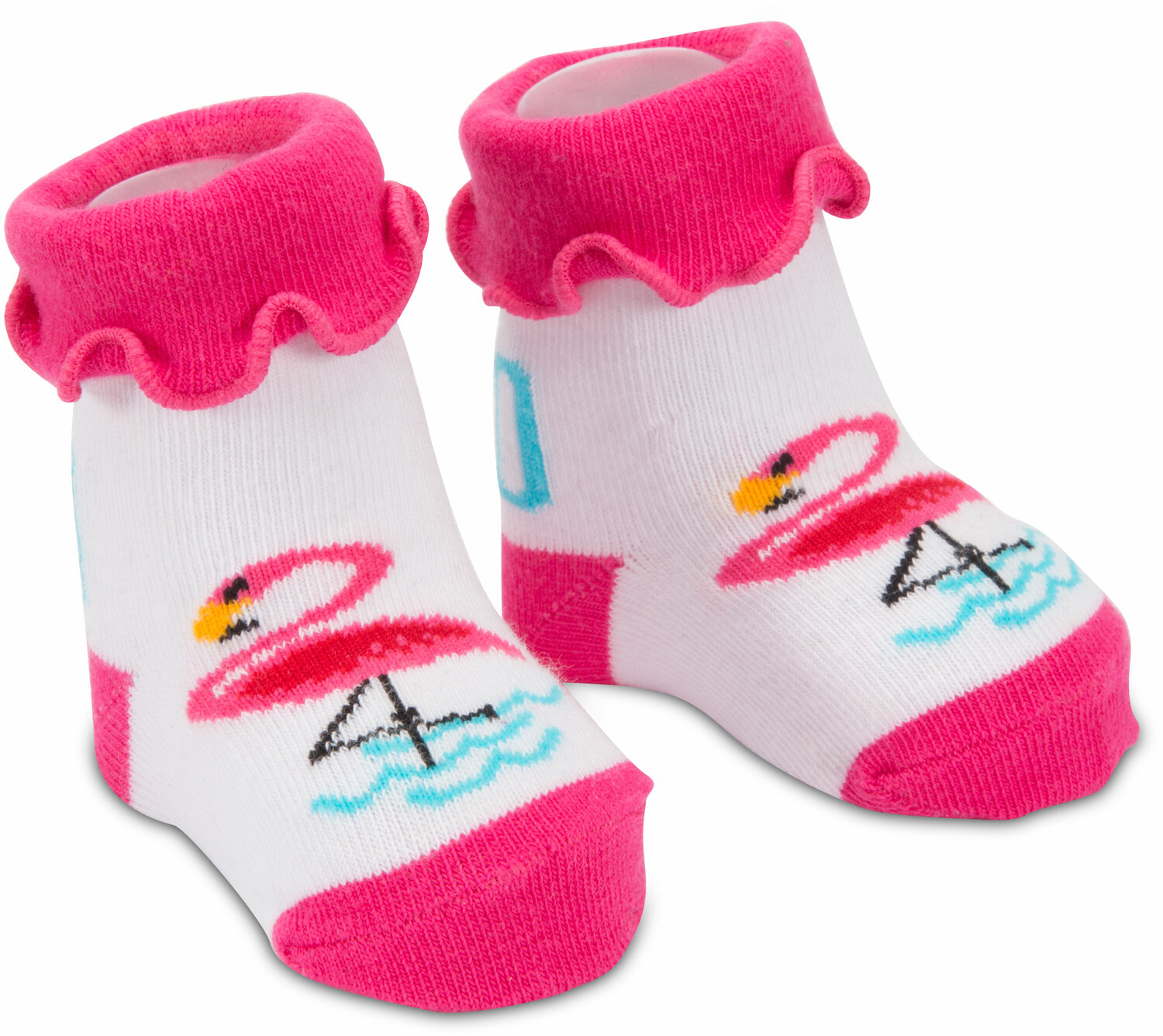 Pink Flamingo by Izzy & Owie - Pink Flamingo - 0-12 Sock