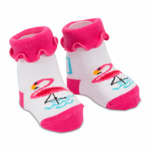Pink Flamingo by Izzy & Owie - 0-12 Sock