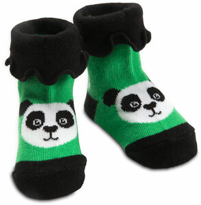 Bamboo Green Panda by Izzy & Owie - 0-12 Sock