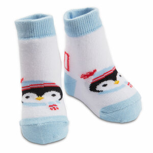 Winter Penguin by Izzy & Owie - 0-12 Sock