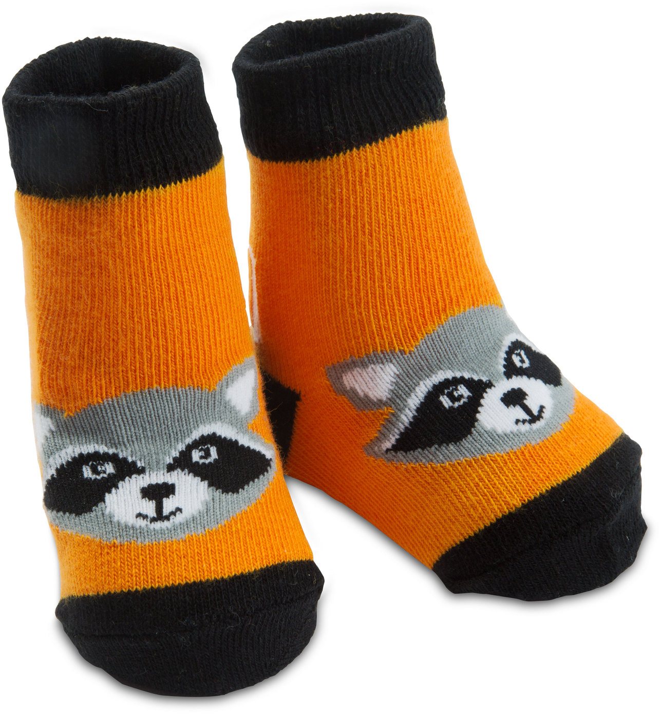 Orange Raccoon by Izzy & Owie - Orange Raccoon - 0-12 Sock