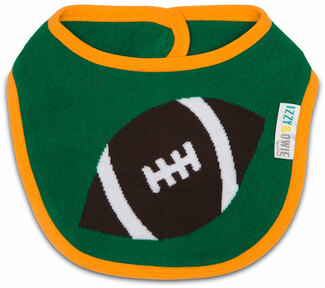 Football by Izzy & Owie -  Baby Bib