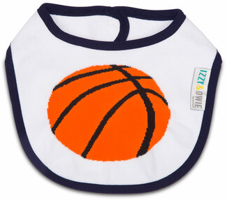 Basketball by Izzy & Owie -  Baby Bib