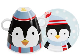 Penguin by Izzy & Owie - 4 pc Stackable Dinner Set