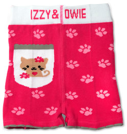 Pink Kitty by Izzy & Owie - 6-12 Months Baby Shorts