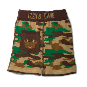 Camouflage Deer by Izzy & Owie - 6-12 Months Baby Shorts