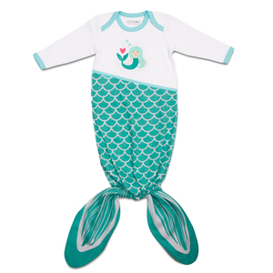 Seafoam Mermaid by Izzy & Owie - 0-9 Months Knotted Onesie