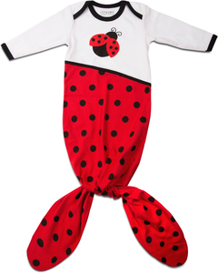 Red and Black Ladybug by Izzy & Owie - 0-9 Months Knotted Onesie