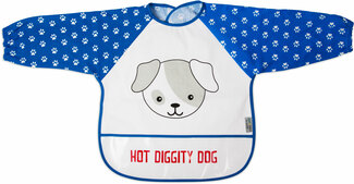 Red and Blue Puppy by Izzy & Owie - One Size Fits All Toddler Smock