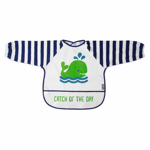 Navy and White Whale by Izzy & Owie - One Size Fits All Toddler Smock
