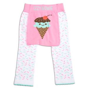 Pink & Mint Ice Cream by Izzy & Owie - 12-24 Months Baby Leggings