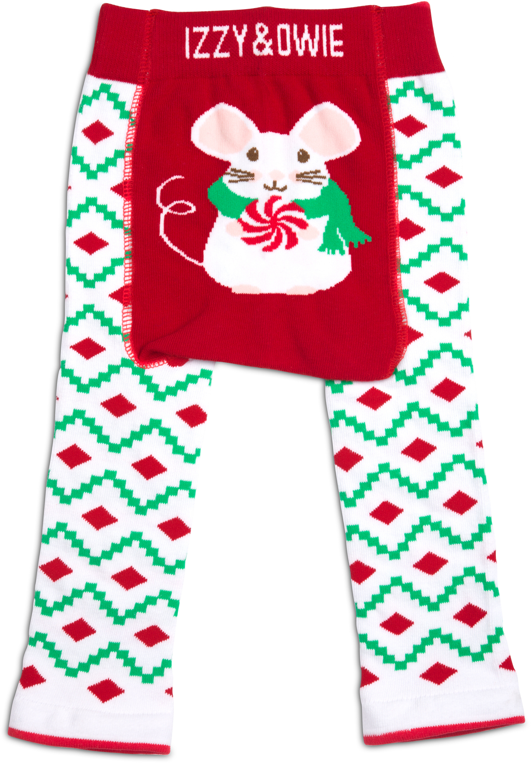d52f5bff1 Christmas Mouse by Izzy & Owie - Christmas Mouse - 6-12 Months Baby Leggings