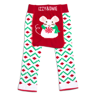 Christmas Mouse by Izzy & Owie - 6-12 Months Baby Leggings