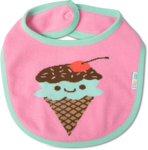 Pink & Mint Ice Cream by Izzy & Owie - Baby Bib
