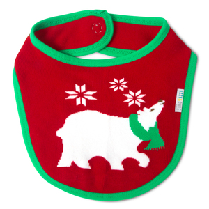 Christmas Polar Bear by Izzy & Owie - Baby Bib