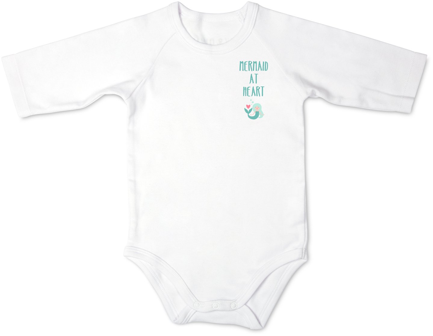 Mermaid by Izzy & Owie - Mermaid - 12-24 Months 3/4 Length Sleeve Onesie