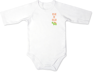 Dino by Izzy & Owie - 6-12 Months 3/4 Length Sleeve Onesie