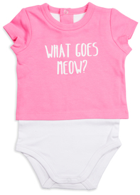 Light Pink Kitty by Izzy & Owie - 6-12 Months Shw-onesie