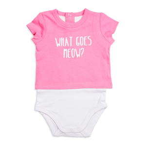 Light Pink Kitty by Izzy & Owie - 12-24 Months Shw-onesie
