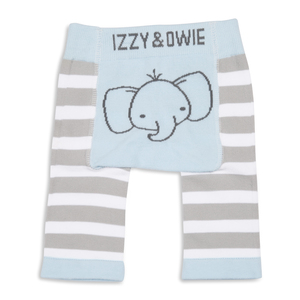 Soft Blue Elephant by Izzy & Owie - 0-6 Months Baby Leggings