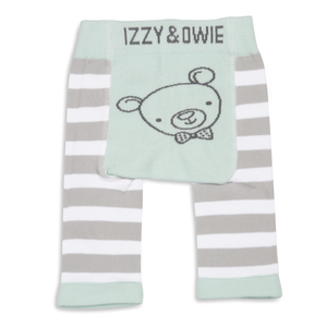 Soft Green Bear by Izzy & Owie - 0-6 Months Baby Leggings