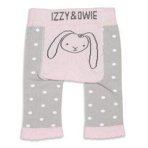 Soft Pink Bunny by Izzy & Owie - 0-6 Months Baby Leggings