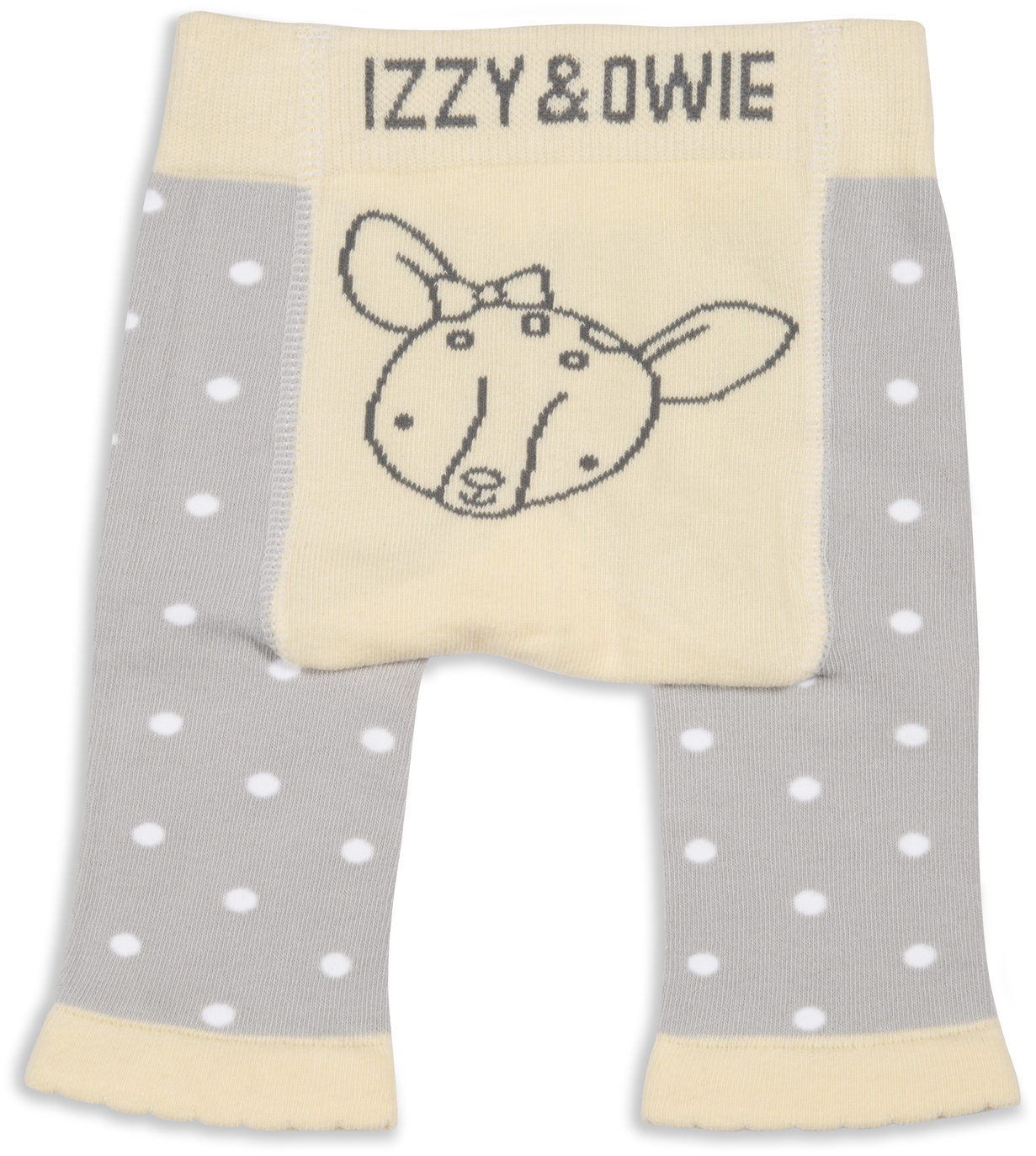 Soft Yellow Deer by Izzy & Owie - Soft Yellow Deer - 0-6 Months Baby Leggings