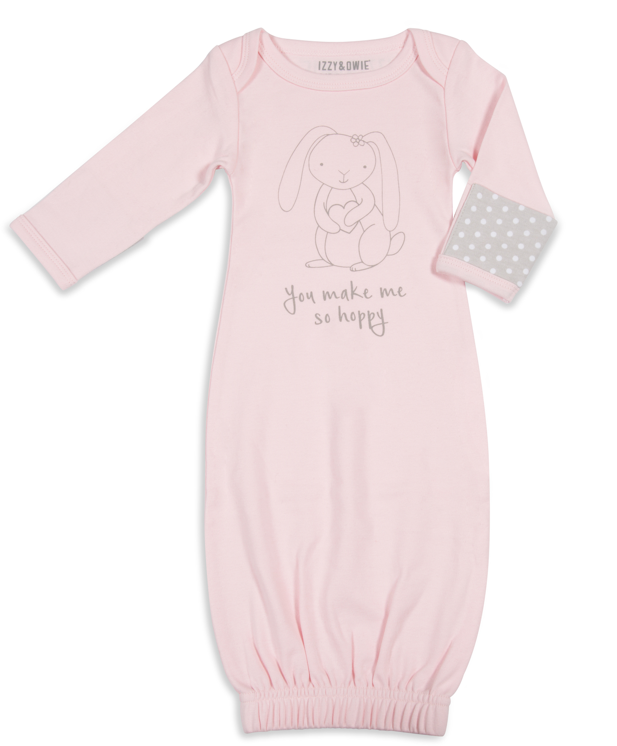Soft Pink Bunny by Izzy & Owie - Soft Pink Bunny - 0-3 Months Gown with Mitten Cuffs