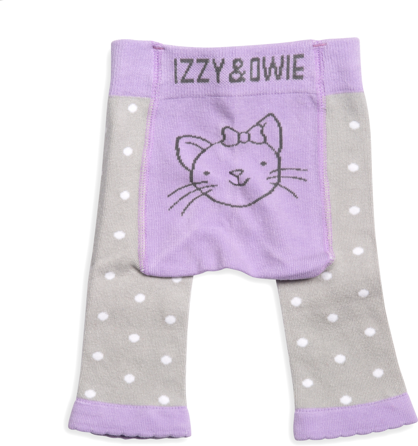Soft Lavender Kitty by Izzy & Owie - Soft Lavender Kitty - 0-6 Months Baby Leggings