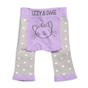 Soft Lavender Kitty by Izzy & Owie - 0-6 Months Baby Leggings