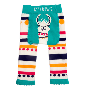 Teal Llama by Izzy & Owie - 6-12 Months Baby Leggings
