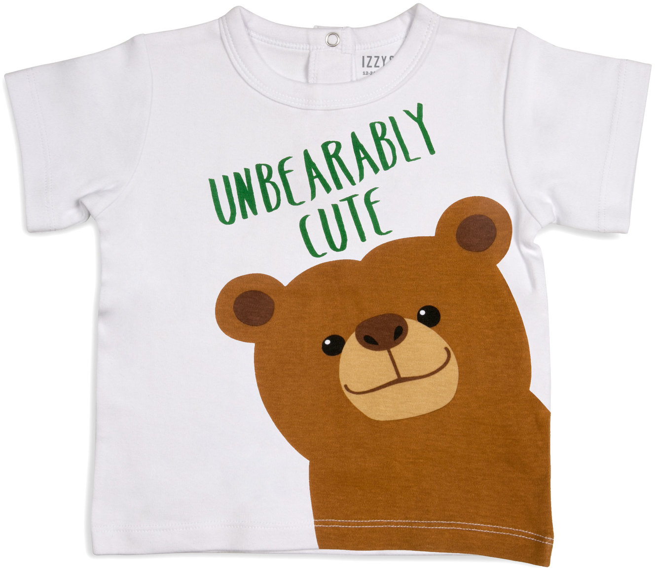 Brown Bear by Izzy & Owie - Brown Bear - 12-24 Months White T-Shirt
