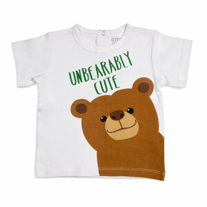 Brown Bear by Izzy & Owie - 12-24 Months White T-Shirt