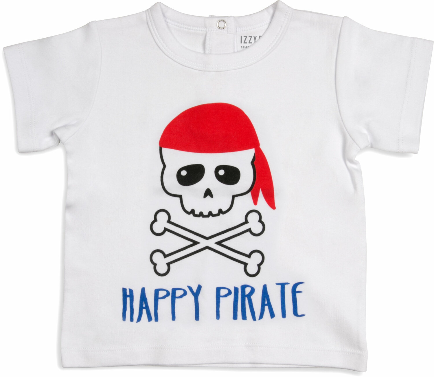 Happy Pirate by Izzy & Owie - Happy Pirate - 12-24 Months White T-Shirt