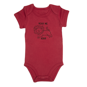 Lion by Izzy & Owie - 6-12 Months Red Onesie