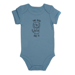 Dog by Izzy & Owie - 6-12 Months Blue Onesie