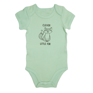 Fox by Izzy & Owie - 6-12 Months Green Onesie