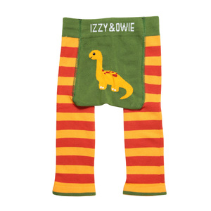 Orange Dino by Izzy & Owie - 6-12 Months Baby Leggings