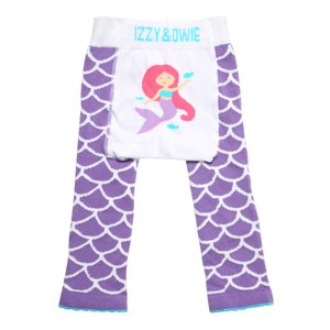 Purple Mermaid by Izzy & Owie - 6-12 Months Baby Leggings