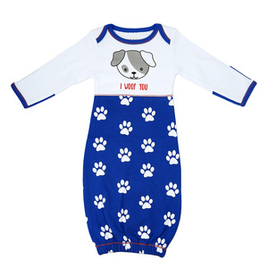 Pawprint Puppy by Izzy & Owie - 0-3 Months Gown with Mitten Cuffs