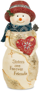 "Sister by The Birchhearts - 5"" Snowwoman Holding a Heart"